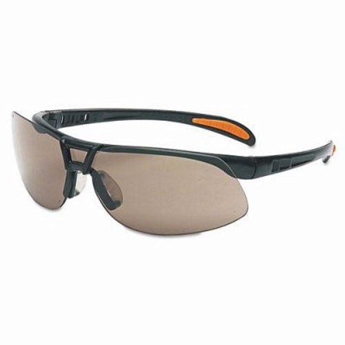Uvex By Sperian Protege Safety Glasses With Metallic Black Frame And Gray Polycarbonate Ultra-dura Anti-Scratch Hard Coat Lens