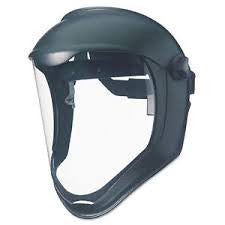 Uvex Bionic Black Matte Dual Position Headgear With Clear Uncoated Polycarbonate Faceshield And Built-In Chin Guard