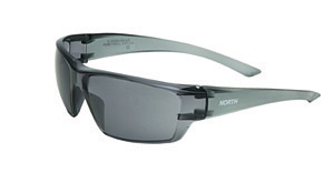 Uvex Conspire Safety Glasses With Matte Gray Frame And TSR Gray Fog Ban Anti-Fog Lens