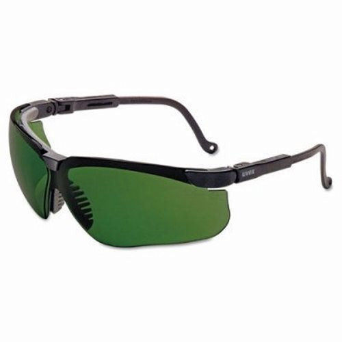 Uvex By Sperian Genesis Safety Glasses With Black Frame And Green And Shade 3 Polycarbonate Infra-dura Ultra-dura Anti-Scratch Hard Coat Lens