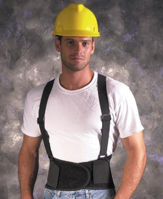 Valeo VEL Large Industrial Back Support With Detachable Suspenders