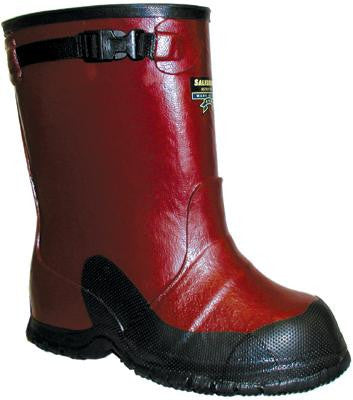 "W H Salisbury Size 9 One Buckle Red 14"" Rubber Overboot With Anti-Skid Sole"