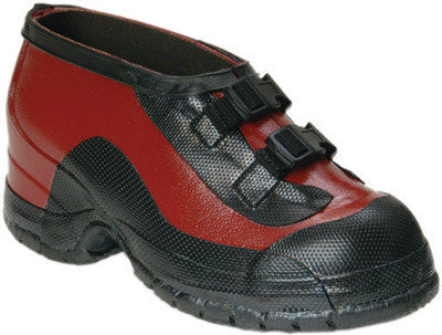W H Salisbury Size 14 Two Buckle Red And Black Rubber Overshoe With Bob Sole