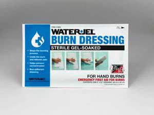"Water-Jel Technologies 8"" X 20"" Foil Pack Sterile Gel-Soaked Burn Dressing With Barrier Sheet For Hand Burns (5 Per Box)"