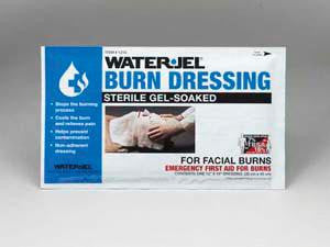 "Water-Jel Technologies 12"" X 16"" Foil Pack Sterile Facial Burn Dressing"