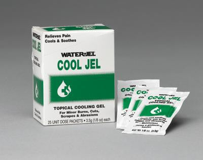 Water-Jel Technologies 3.5 Gram Unit Dose Packet Cool Jel Topical Gel (25 Per Box)