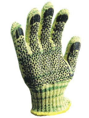 Wells Lamont Large Whizard METALGUARD Heavy Weight Kevlar, Stainless Steel And Polyester Cut Resistant Gloves With PVC Dots Coating