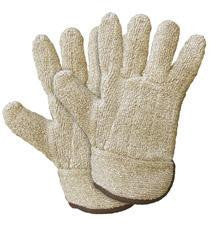 Wells Lamont X-Large Brown Jomac Extra Heavy Weight Terry Cloth Unlined Reversible Ambidextrous Heat Resistant Gloves With Safety Cuff