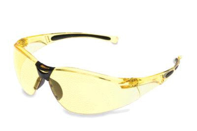Sperian A800 Series Safety Glasses With Amber Frame And Amber Polycarbonate Anti-Scratch Hard Coat Lens