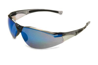 Sperian A800 Series Safety Glasses With Gray Frame And Blue Polycarbonate Anti-Scratch Hard Coat Mirror Lens