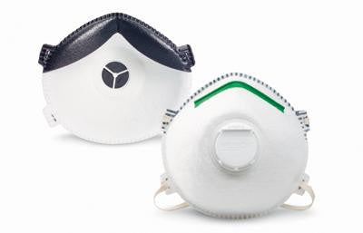 Willson X-Large P100 SAF-T-FIT Plus P1130 Premium Disposable Particulate Respirator WIth Exhalation Valve, Blue Nose Ridge, Full Face Seal And Adjustable Straps (10 Each Per Case)