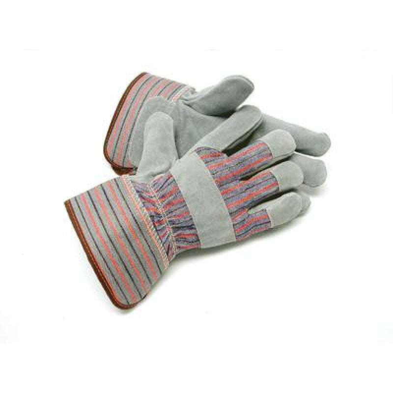 Radnor X-Large Gray Leather Thinsulate Lined Cold Weather Gloves With Wing Thumb, Safety Cuffs, Leather Knuckle Strap And Elastic Back