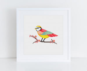FREE VINTAGE 'EARLY BIRD' CROSS STITCH PATTERN