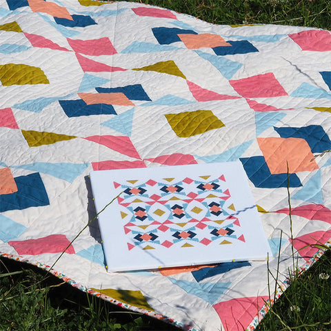 collider quilt and cross stitch