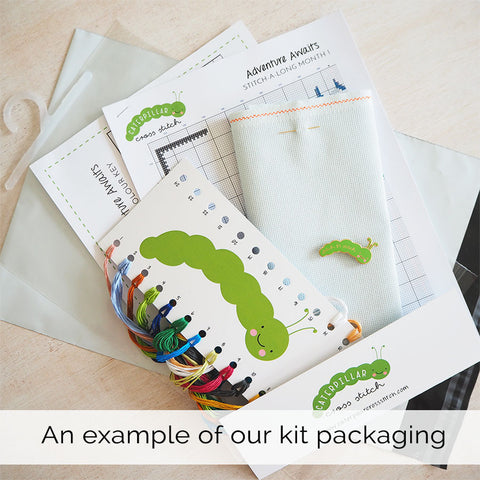cross stitch kit packaging