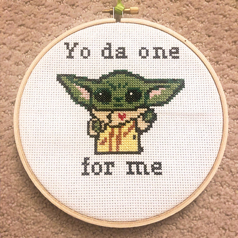cross stitch yoda star wars