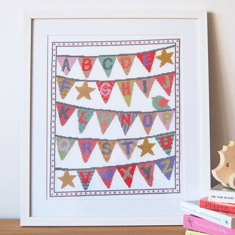 baby cross stitch kit bunting