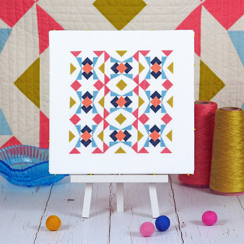 quilting to cross stitch pattern