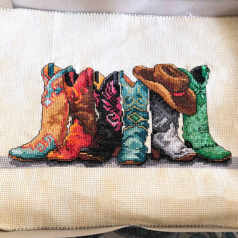 cowboy boot cross stitch