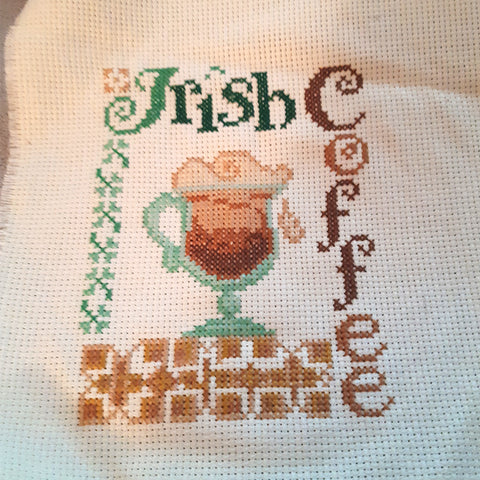 cross stitch competition coffee