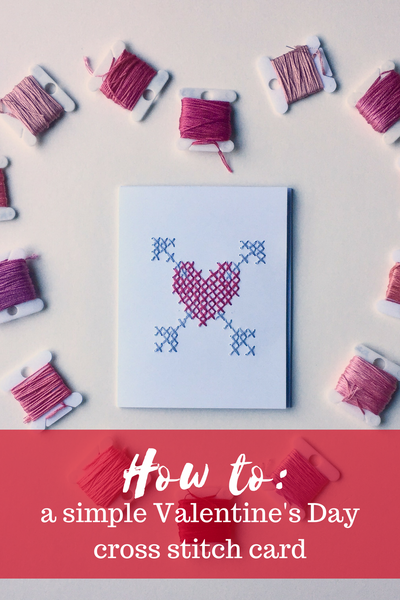 Valentines Cross Stitch Card Craft Free Pattern Love Heart