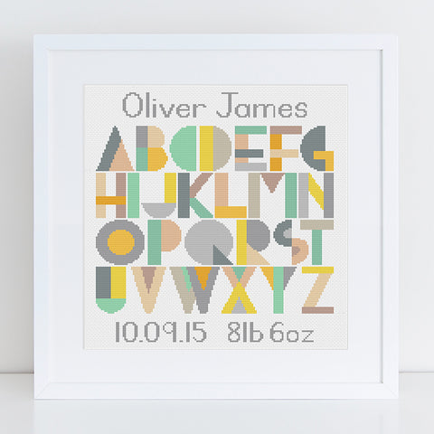 personalised cross stitch kit
