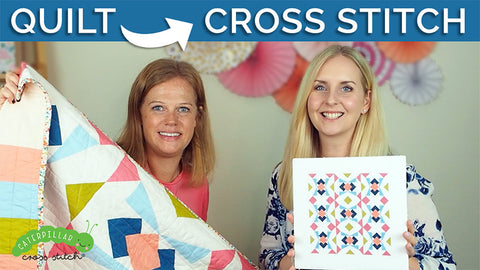 collider quilt and cross stitch video