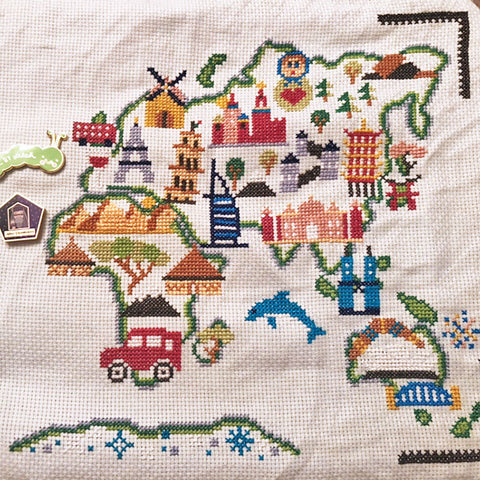cross stitch competition map