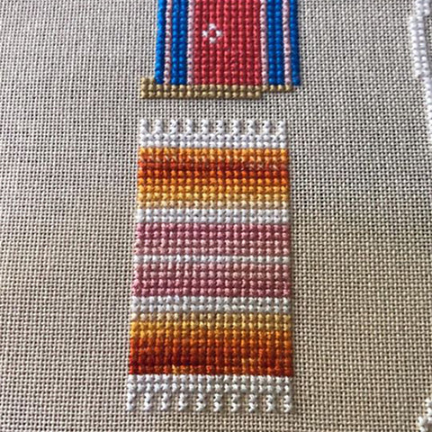 variegated cross stitch thread tips