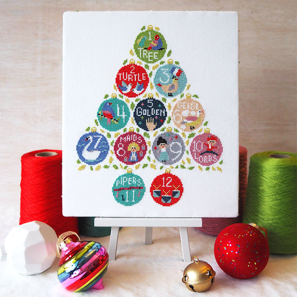 12 Days of Stitchmas - Cross Stitch Kit and Pattern - Caterpillar Cross Stitch