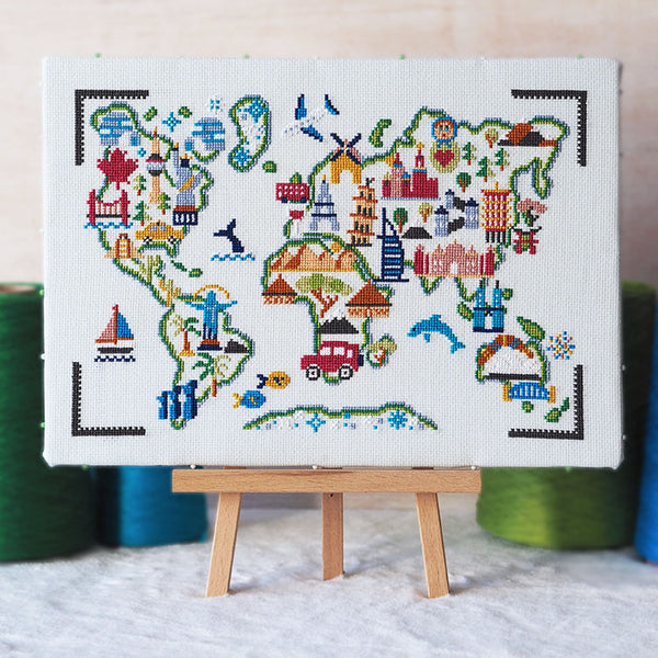 Adventure Awaits - Cross Stitch Kit and Pattern - Caterpillar Cross Stitch