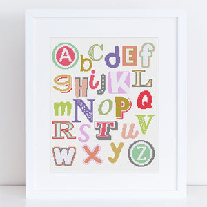 alphabet baby cross stitch