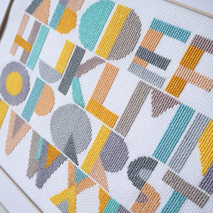 alphabet sampler cross stitch kit