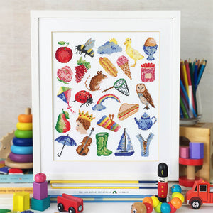 baby cross stitch kit watercolour