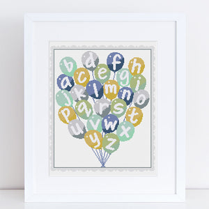 baby cross stitch kit balloons