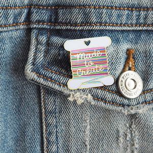 Enamel Pin Badge - Bobbin