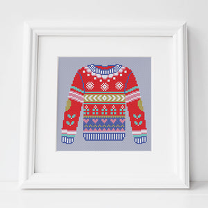 Cosy Christmas Jumper - Cross Stitch Pattern