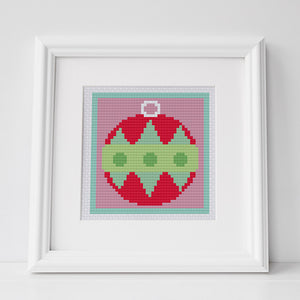 christmas bauble cross stitch