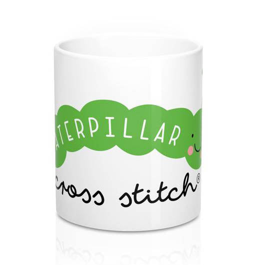 Carlos the Caterpillar Cross Stitch Mug