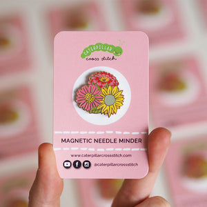 Magnetic Needle Minder - Flowers