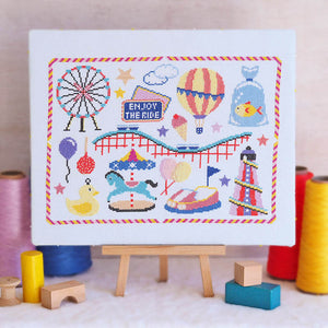 funfair cross stitch kit