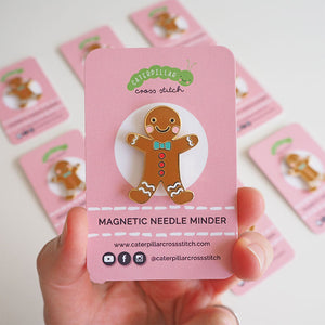 gingerbread man needle minder