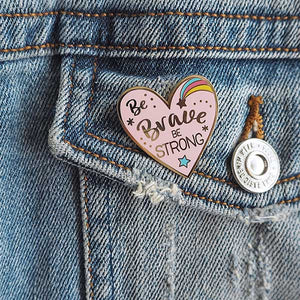 heart enamel pin badge