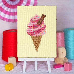 Ice Cream Whippy - Junior Cross Stitch Kit