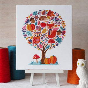 Hello Pumpkin - Cross Stitch Kit and Pattern