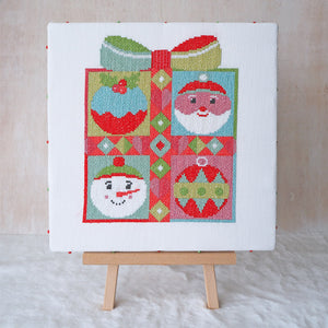 santa cross stitch kit