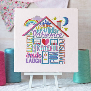 Positivity Rules - Cross Stitch Kit or Pattern