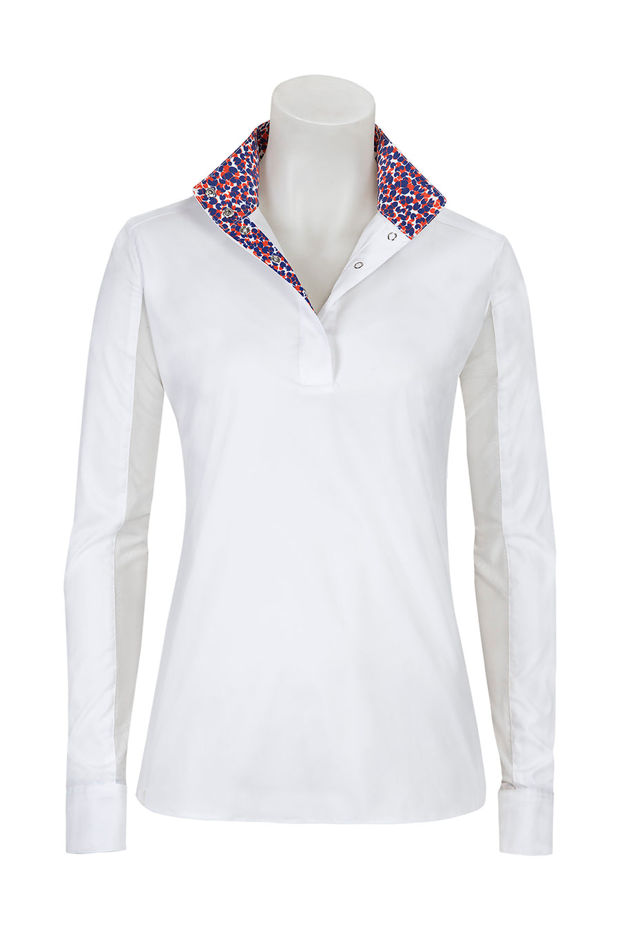 RJ Classics Ladies' Rebecca Show Shirt White/Orange-Show Shirts - Kid's Show Shirt-RJ Classics-White/Orange-L-Manhattan Saddlery