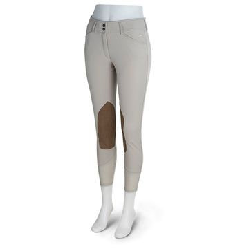 RJ Classics Anna Mid-Rise Breech Sand-Breeches - Ladies - Knee Patch-RJ Classics-Sand-24-Manhattan Saddlery