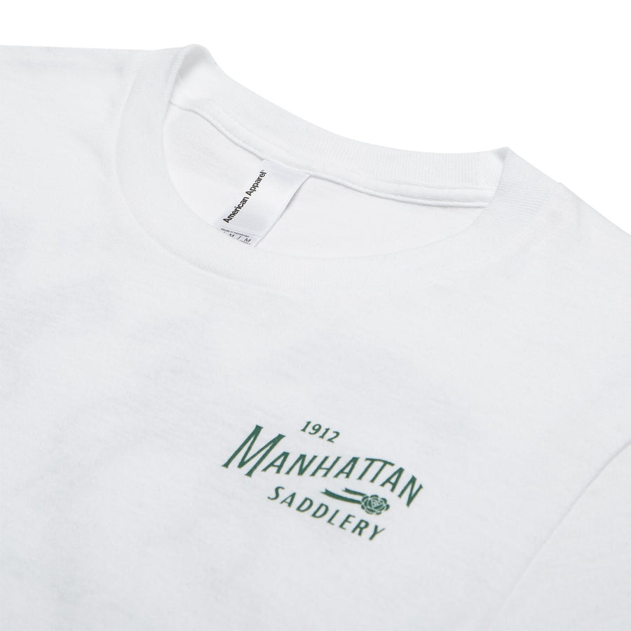 Manhattan Saddlery Classic Ladies' T-Shirt White-Shirts-Manhattan Saddlery House Label-L-Manhattan Saddlery